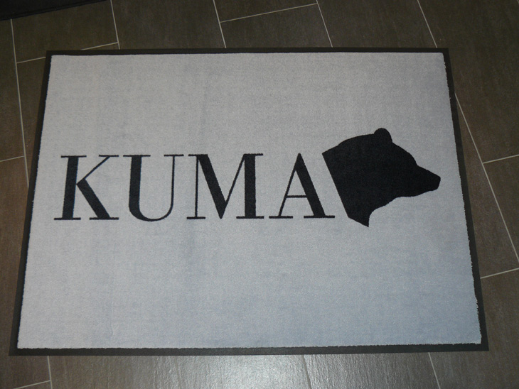 Logomatte für Immobilienunternehmen