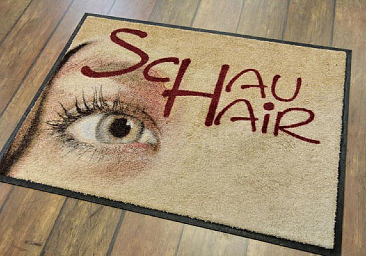 Individuell bedruckter Fußabtreter für Friseur