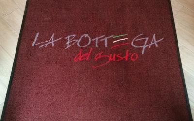 Bedruckte Fußmatte für italienisches Feinkost-Ladengeschäft