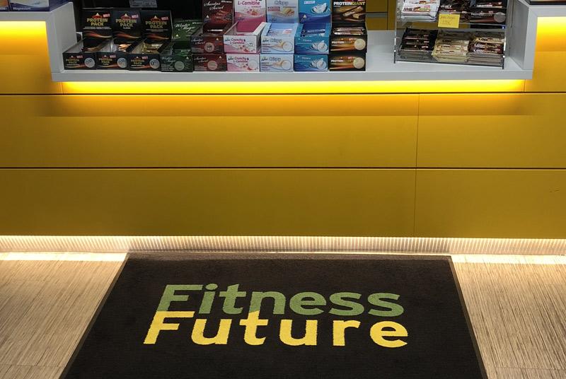 Fußmatte mit Logo für Fitnessstudio