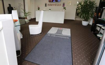 Fußmatte mit Logo für EMA IMMOBILIEN