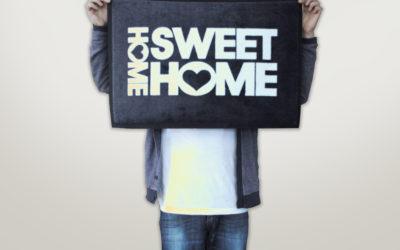 Willkommen Fußmatte – Home Sweet Home